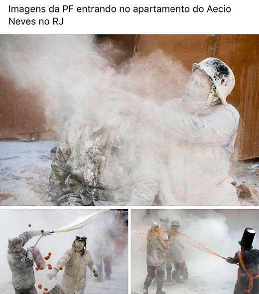 Imagens da PF entrando no apartamento do Aécio Neves no RJ / Reprodução da Internet