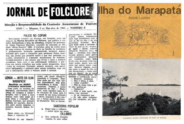 Desta sobre a Ilha Marapatá no Jornal Folclore
