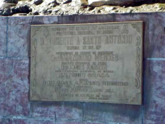 Placa do Monumento a Santo Antônio