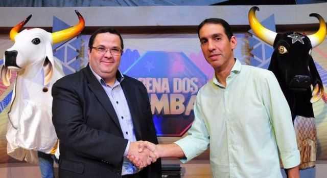 Fábio Chateaubriand Borba, diretor de rede da TV Cultura (SP) e Dissica Tomaz Calderaro (Foto: Antônio Lima)