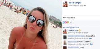 Lúbia Gorgete é acusada de integrar quadrilha de roubo a banco em MT (Foto: Reprodução / Facebook)