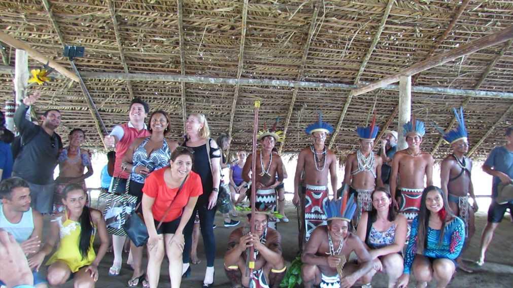 Visitar tribo indígena Amazônica / Foto : No Amazonas é Assim