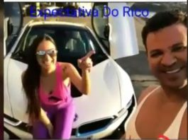 Eduardo Costa e a ex-namorada Victoria Villarim