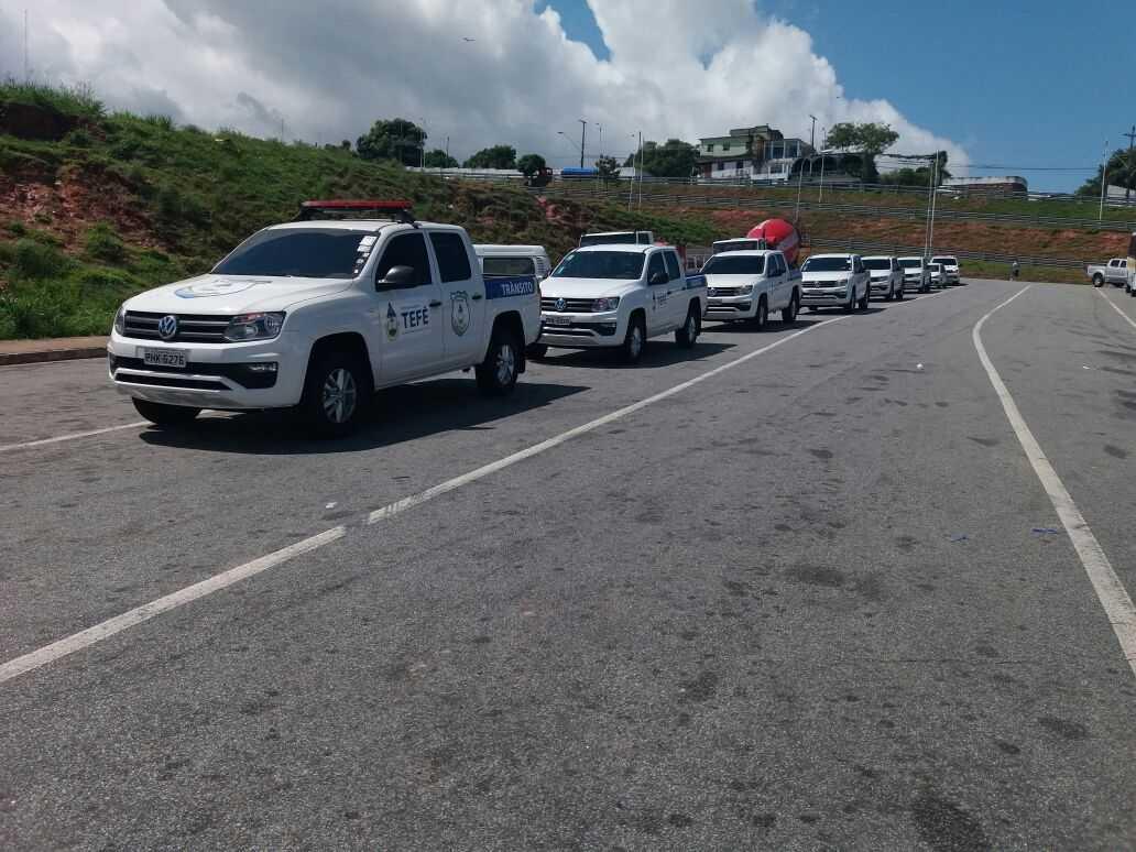 Prefeitura de Tefé reforçou a frota de veículos. / Foto : Jussara Melo - NoAM