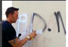 Sabino divulga um vídeo pichando a sigla da FDN - Imagem: Instagram