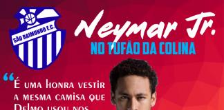 """Neymar Jr. foi """"anunciado"""" pelo São Raimundo (Foto: Reprodução/São Raimundo-AM)"""