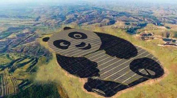 Grupo chinês inaugura a primeira de uma série de usinas em formato de panda no país / Divulgação