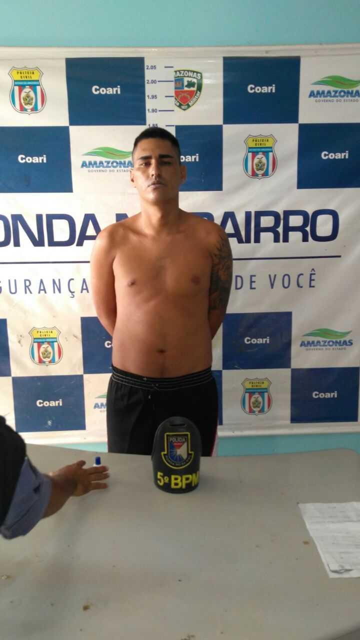"""""""Bactéria"""", Braço direito da facção PCC é recapturado no Amazonas - Imagem: Divulgação PM"""