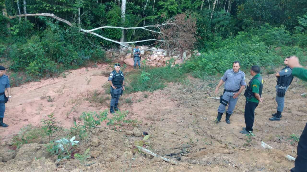 Corpos são encontrados próximos a Cidade Universitária, região metropolitana de Manaus - Imagem: Via Whatsapp