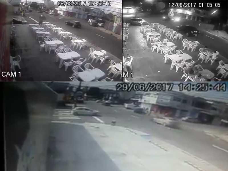 Câmera flagra acidente de trânsito em cruzamento na Praça 14