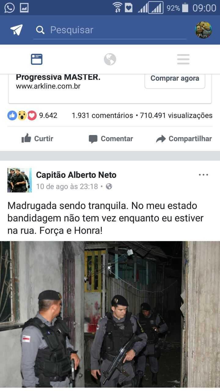 Capitão Alberto Neto - Reprodução Facebook