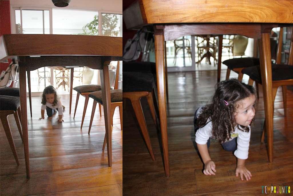 Quem fica embaixo da mesa, não cresce / Divulgação