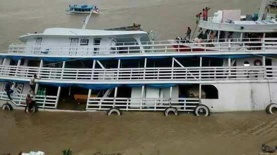 Barco que saiu de Manaus para Maraã naufraga no Rio Purus, no Amazonas - Imagem: Divulgação