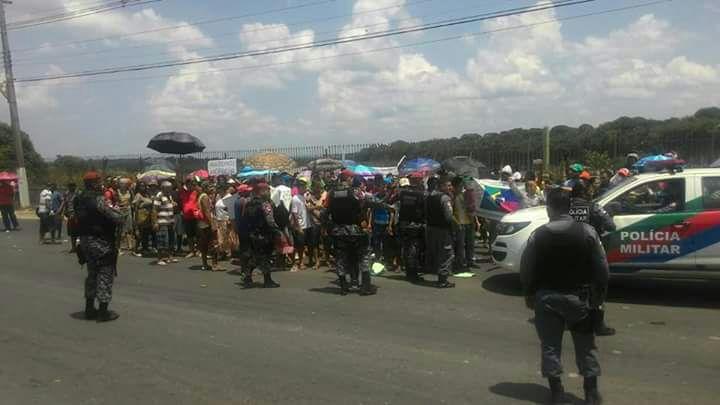 Indigenas realizam manifestacao na Torquato Tapajos em Manaus-Imagem: Divulgação/Manaustrans