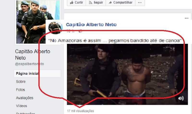 Capitão Alberto Neto : No Amazonas é Assim - A gente prende bandido até de canoa