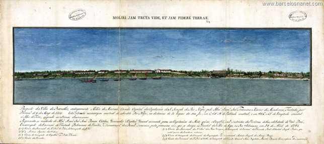 Prospecto da Vila de Barcelos, antigamente Aldeia de Mariuá, criada capital da capitania de S. José do Rio Negro, pelo Ilmº e Exmº Sr. Francisco Xavier de Mendonça Furtado, por provisão de 6 de maio de 1758...