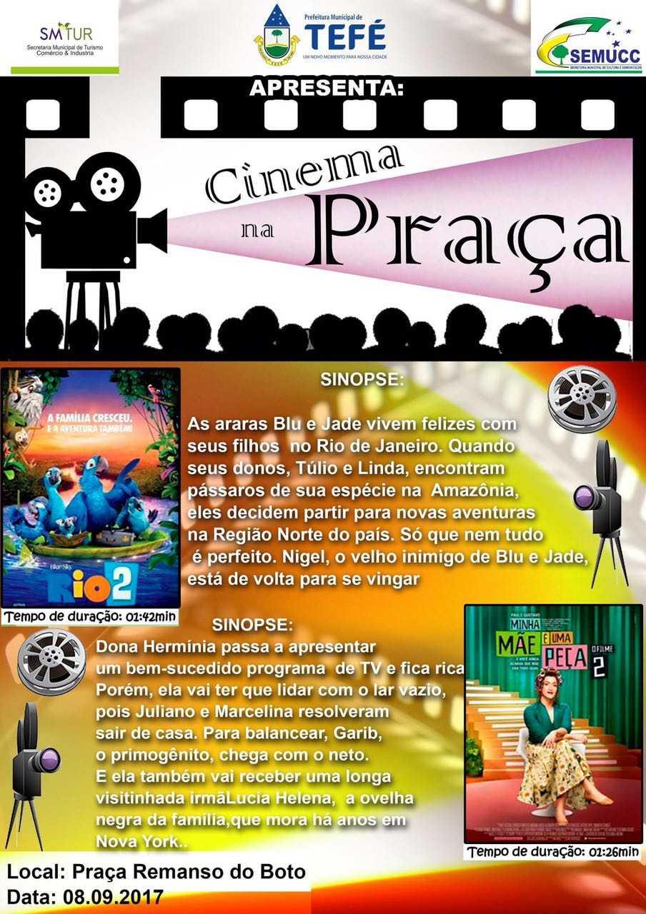 Cinema na Praça em Tefé exibe filmes premiados ao ar livre e de graça / Divulgação