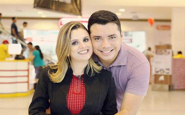 Jornalista Maritana Santos, repórter da Rede Amazônica, e o Jornalista Nilsandro Junnior / Divulgação Arquivo Pessoal