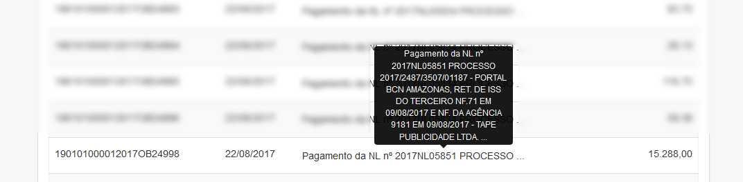 quanto o portal BNC Amazonas ganha da Prefeitura de Manaus / Reprodução Portal da Transparência