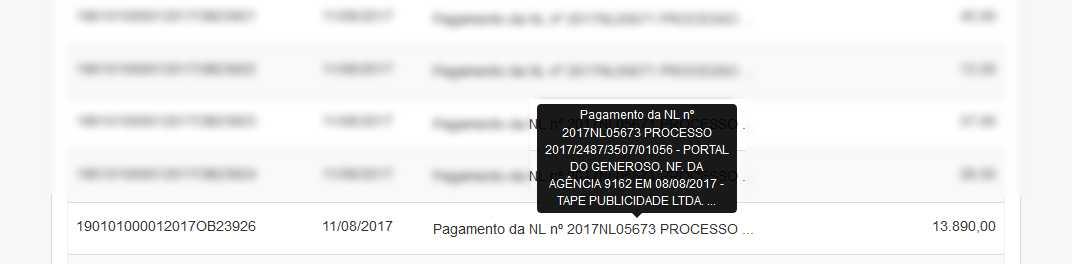 Quanto o Portal do Generoso ganha da Prefeitura de Manaus / Reprodução Portal da Transparência