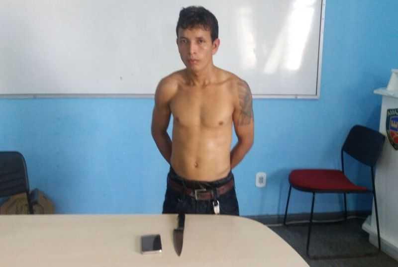 Raimundo Araújo Pinto Filho tentou assaltar com uma faca, diz a PM (Foto: Divulgação/ PC)