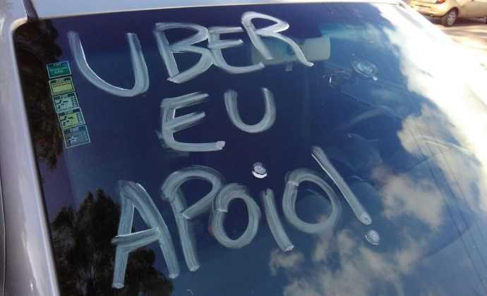 Manifestação da Categoria de Ubers / Divulgação