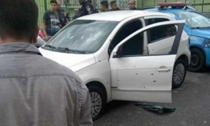 Comandante de batalhão da PM morre em tiroteio durante atentado - Imagem: Via Whatsapp