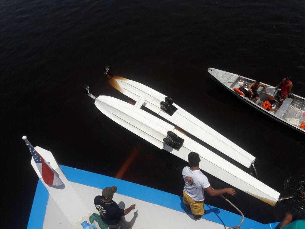 Hidroavião do Greenpeace Brasil, cai no Rio Negro com 5 pessoas a bordo - Imagem: Divulgação