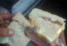 PMs que trabalham na Rocinha denunciam que receberam pão mofado de lanche. Imagem: Reprodução/ TV Globo