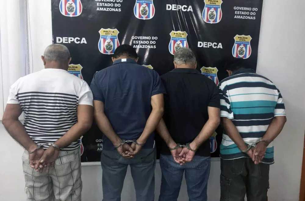 Polícia prende 4 homens suspeitos de estuprar criança em condomínio na Ponta Negra em Manaus - Imagem: Divulgação