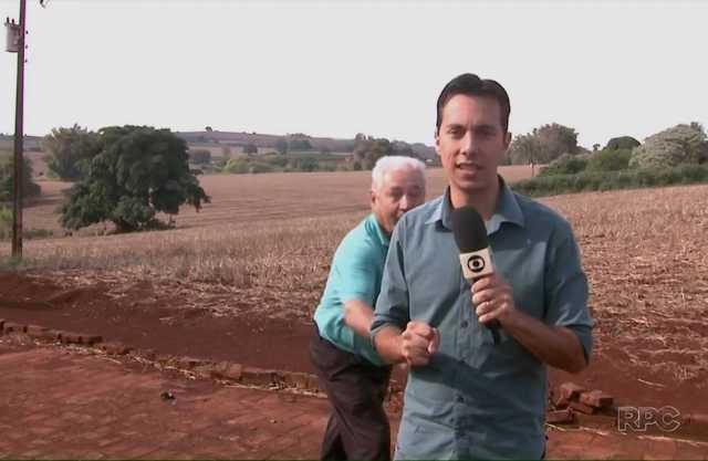 Repórter leva susto durante reportagem sobre onça - Imagem: Divulgação
