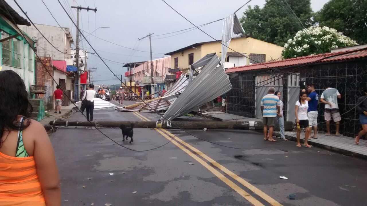 Temporal com granizo atinge Manaus e surpreende população - Imagem: Divulgação