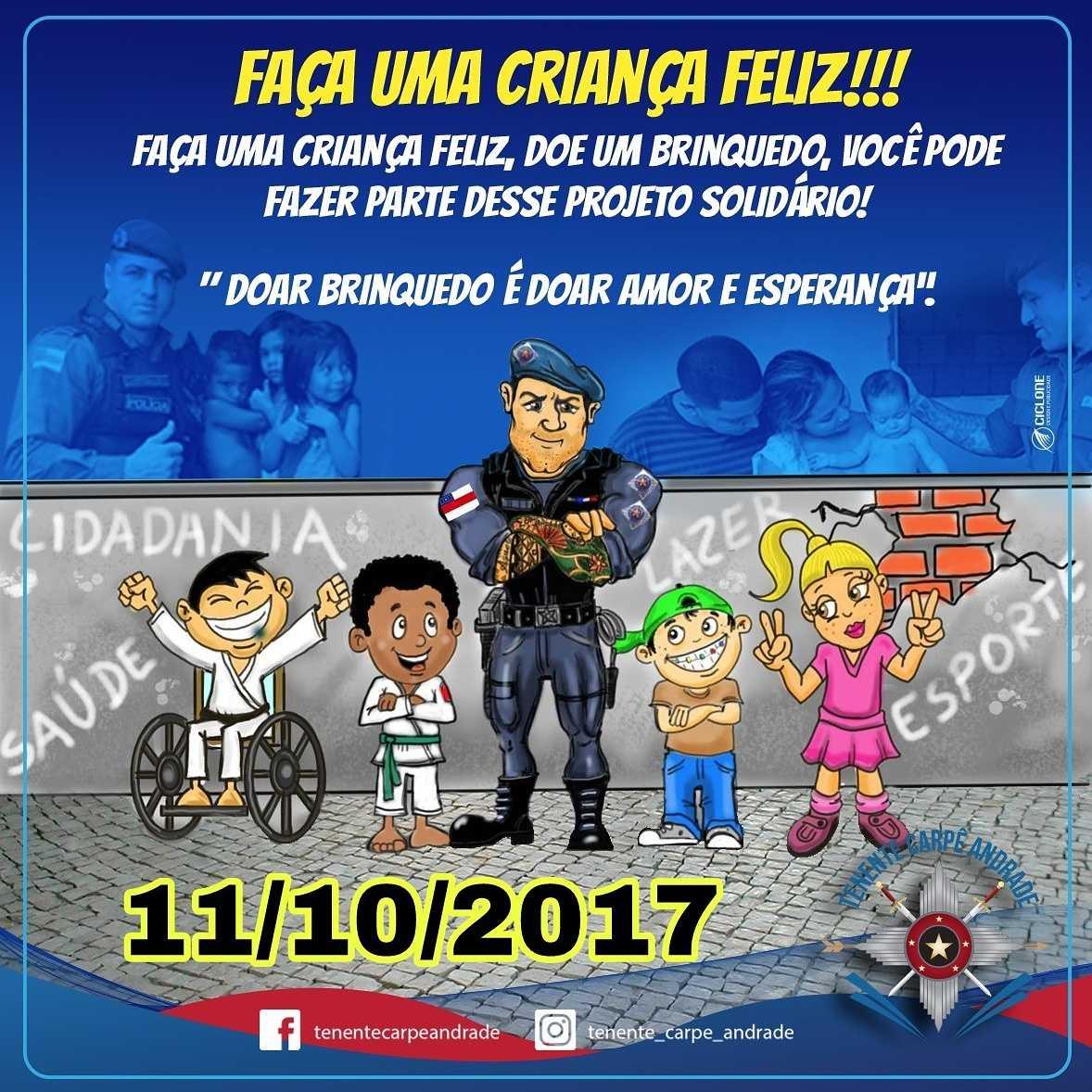 Tenente Carpê promove ação solidária no dia das Crianças