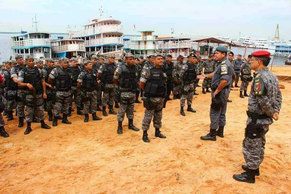 Polícia Militar do Amazonas envia tropa à Parintins para cumprir mandado de reintegração de posse / Divulgação