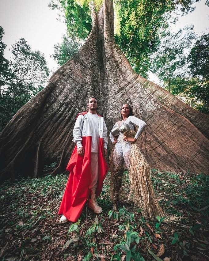 Alesso & Anitta durante a gravação Is That For Me / Divulgação