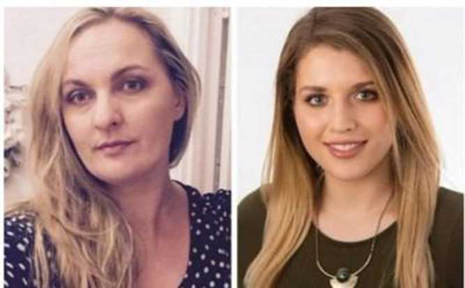 Esposa (à esquerda) e amante (à direita) Foto: Reprodução (The Telegraph)