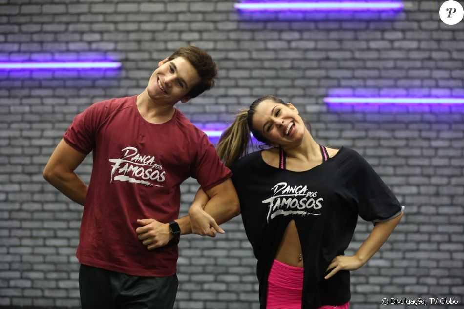 Nicolas Prattes e Mayara Araújo se apresentaram no 'Dança dos Famosos'. / Divulgação