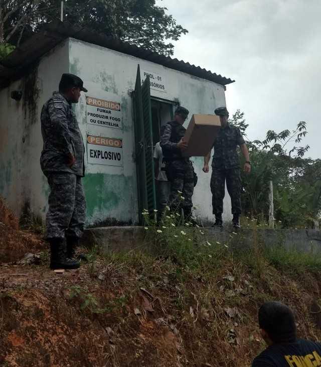525 kg de explosivos são apreendidos em Presidente Figueiredo no Amazonas- Imagem: Divulgação