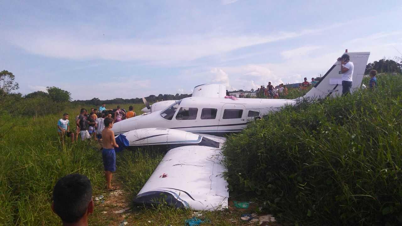 Avião que transportava fiscais do Enem sofre acidente no Amazonas- Imagem: Via Whatsapp