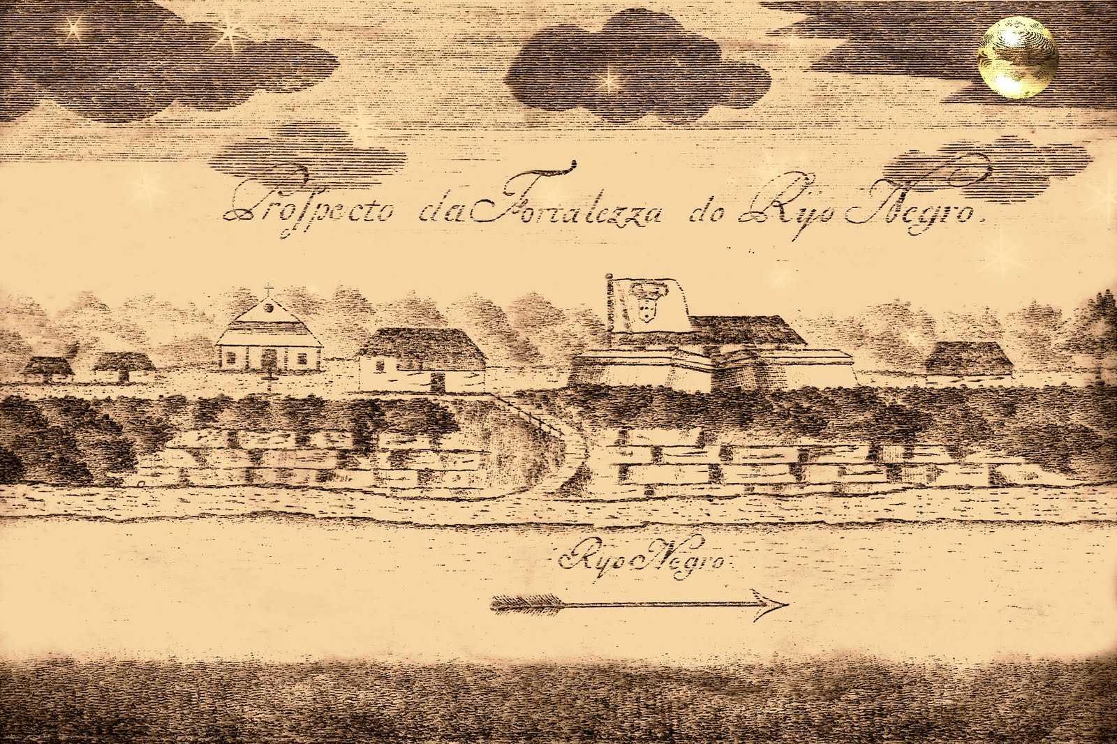 Este é um prospecto (vista de frente) e, constitui-se no único registro visual conhecido, data de 7 de Dezembro de 1754, feito pelo engenheiro alemão João André Schwebel, quando por aqui passou, fazendo parte da comitiva do governador e capitão-general Francisco Xavier de Mendonça Furtado, vindos de Belém em direção a Mariuá (Barcelos) - o local foi onde teve inicio a cidade Manaus, mostra o forte e algumas casas de palha ao seu redor, além de uma pequena igreja; com a seta da flexa para a direita (descida das águas) indicando que a cidade fica na margem esquerda do Rio Negro -, segundo os historiadores, ele recebeu várias denominações, foi chamado de Forte de São José da Barra do Rio Negro, Fortim de São José, Forte do Rio Negro, Fortaleza de São José do Rio Negro e Fortaleza do Rio Negro.