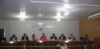 Plenário da Câmara Municipal de Presidente Figueiredo.