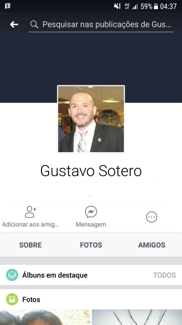 O Delegado Gustavo Castro Soteroé suspeito de entrar no local com arma e disparar contra quatro pessoas (Foto: Divulgação)