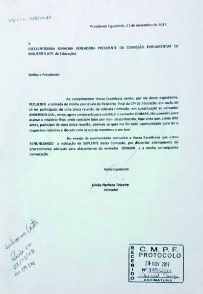 Documento protocolado