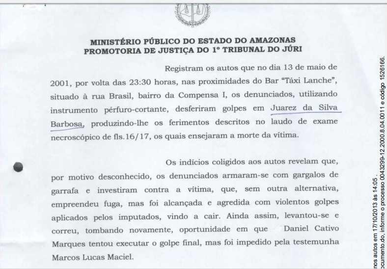 Jardel Nogueira Deltrudesel, além de ser flagrado com posse irregular de arma ele é acusado de homicídio - Imagem: Tribunal de Justiça do Amazonas