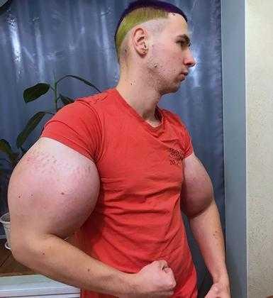 Kirill Tereshin, conhecido com seus músculos inflados / Divulgação