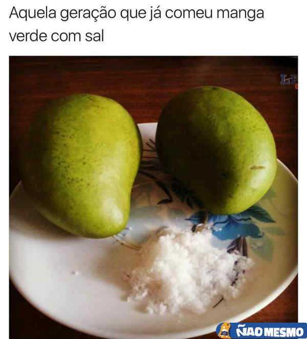 Manga verde com sal