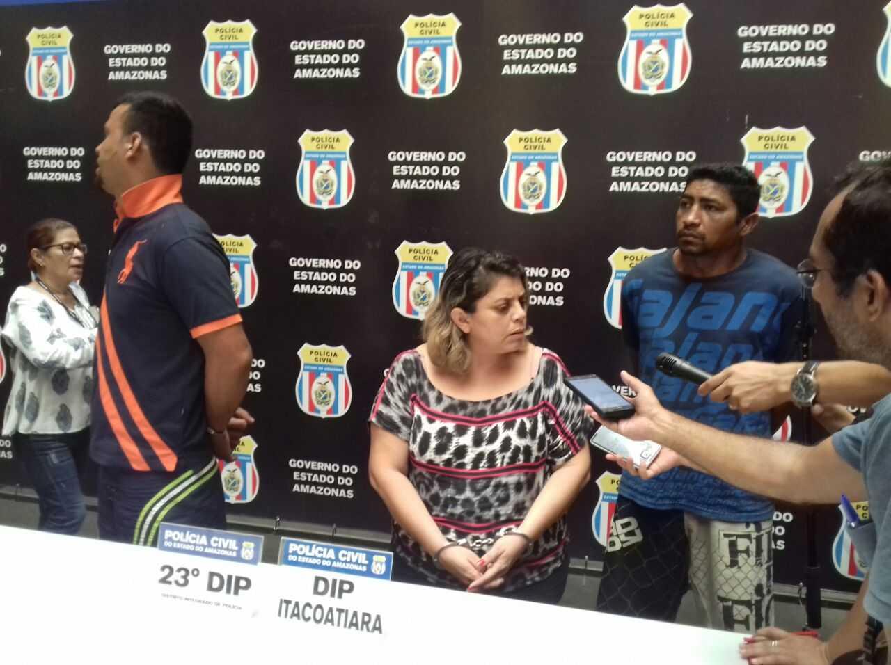 Polícia Civil apresenta trio suspeito de matar casal de idosos, no Amazonas - Imagem: Divulgação /PC