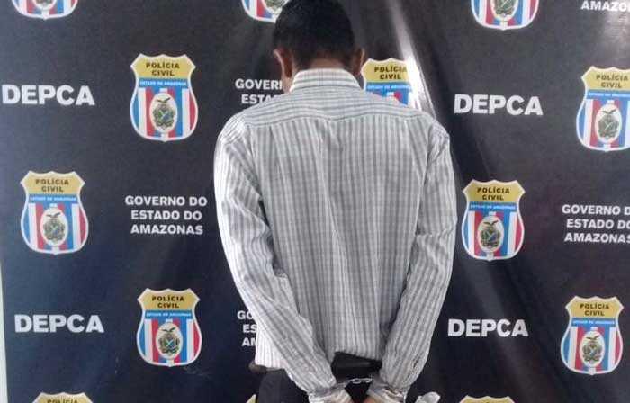 O criminoso foi indiciado por estupro de vulnerável, e foi levado ao Centro de Detenção Provisória Masculino (CDPM)- foto: divulgação/PC