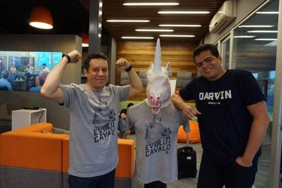 Expedito Belmont e Marcio Pessoa na primeira semana de aceleração da Darwin Starter