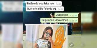 Garota Fake tenta 'passar a perna' no Whatsapp e vira piada com as fotos